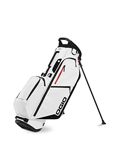 OGIO 2020 Fuse 4 Stand Bag (White, Double Strap)