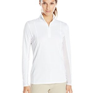 Ariat Women's Sunstopper 1/4 ZipShirt, White, Large