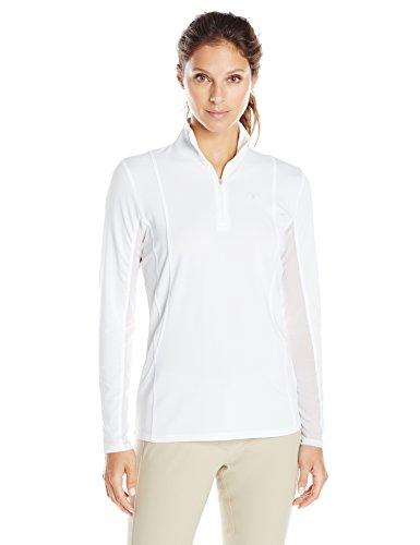 Ariat Women's Sunstopper 1/4 ZipShirt, White, Large
