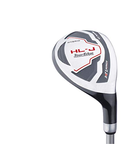 Tour Edge HL-J Junior Complete Golf Set with Bag (Right Hand, Graphite, 1 Putter, 3 Irons, 1 Hybrid, 1 Fairway, 1 Driver 9-12) Red