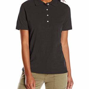 Hanes womens X-Temp Performance Polo Shirt,Black,Large