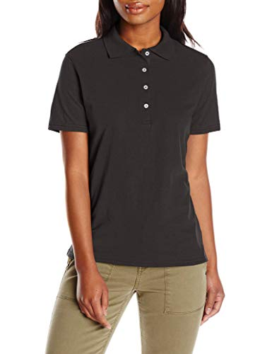 Hanes womens X-Temp Performance Polo Shirt,Black,Large