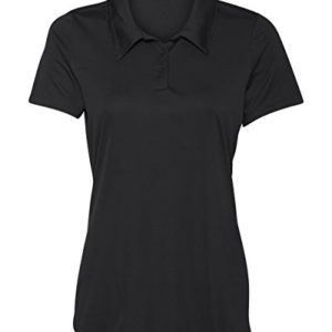 Women's Dry-Fit Golf Polo Shirts 3-Button Golf Polo's in 20 Colors XS-3XL Shirt Black-M