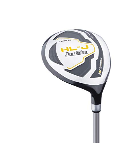 Tour Edge HL-J Junior Complete Golf Set with Bag (Left Hand, Graphite, 1 Putter, 1 Iron, 1 Wood, 3-6 YRS) Yellow