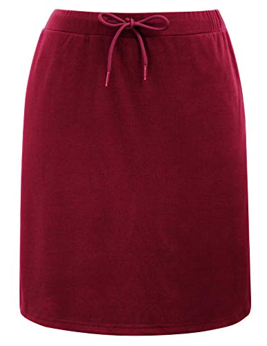 Women's Active Athletic Skirt Golf Skort with Pockets Built in Shorts(S,Wine)
