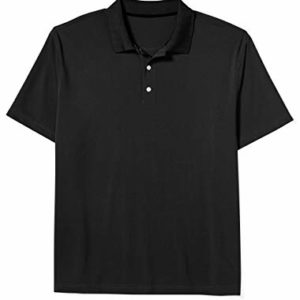 Amazon Essentials Men's Big-Tall Quick-Dry Golf Polo Shirt Shirt, -Black, 4XL