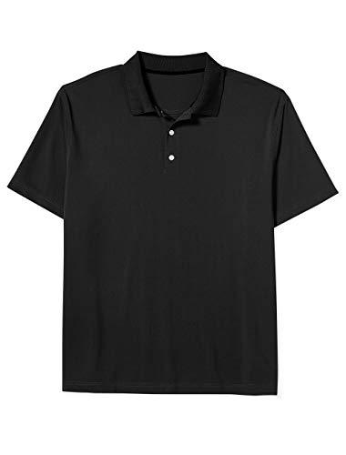 Amazon Essentials Men's Big-Tall Quick-Dry Golf Polo Shirt Shirt, -Black, 4XL