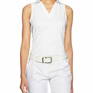 PGA TOUR Women's Airflux Sleeveless Polos, Bright White, S