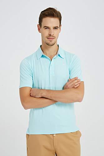 JINSHI Men's Golf Shirt for Men Polo Shirts Comfortable Shirts Green Size 2XL