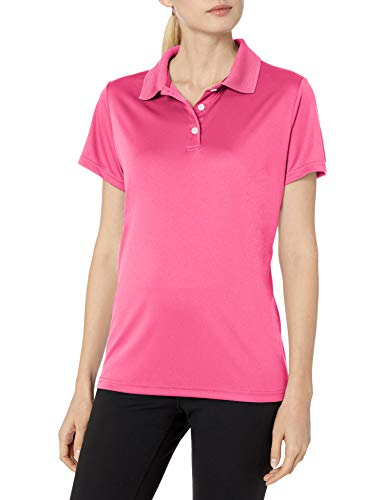 Hanes Sport Women's Cool DRI Performance Polo,Wow Pink,X-Large
