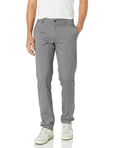 PGA TOUR Men's Flat Front Active Waistband Golf Pant, Quiet Shade, 34W x 29L