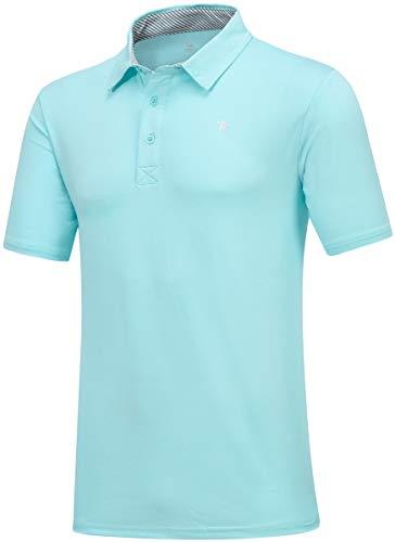 JINSHI Men's Golf Shirt for Men Polo Shirts Comfortable Shirts Green Size S