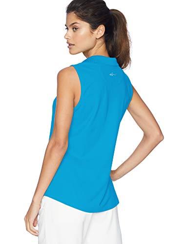 Greg Norman Women's Protek Micro Pique S/l Polo, Atlantic Blue, Large