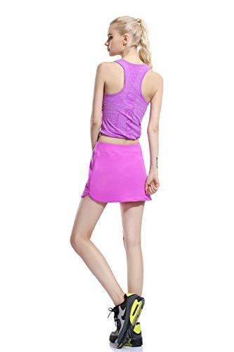 Women Casual Skirt Golf Running Skort with Underneath Shotrs Purple S