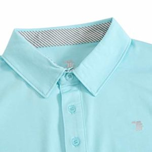 JINSHI Men's Golf Shirt for Men Polo Shirts Comfortable Shirts Green Size S