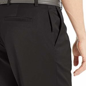 Amazon Essentials Men's Standard Classic-Fit Stretch Golf Pant, Black, 42W x 30L