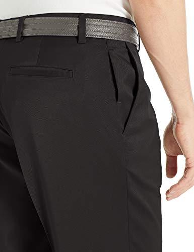Amazon Essentials Men's Standard Classic-Fit Stretch Golf Pant, Black, 42W x 30L