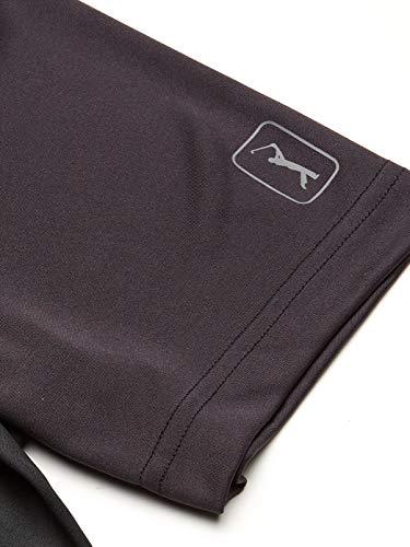 PGA TOUR Men's Ombre Argyle Short Sleeve Polo Golf Shirt, Caviar, S
