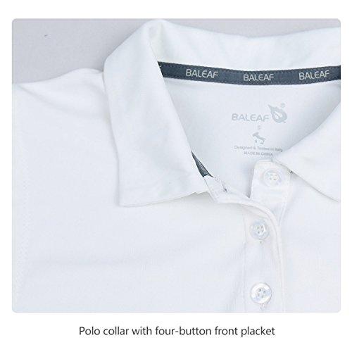 BALEAF Women's Golf Sleeveless Polo Shirts Tennis Tank Tops Quick Dry UPF 50+ White Size XXL