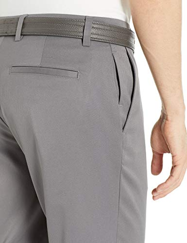 Amazon Essentials Men's Standard Straight-Fit Stretch Golf Pant, Gray, 32W x 32L