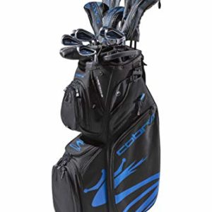 Cobra Golf 2020 Airspeed Complete Set Black-Blue (Men's, Right Hand, Graphite, Senior Flex, 11.5, 3W,5W,4H,5H,6-PW, SW, Putter, Bag)