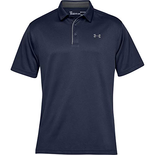 Under Armour Men's Tech Golf Polo, Midnight Navy (410)/Graphite, X-Large
