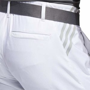 adidas Golf Ultimate 3-stripe Tapered Pant, White, 3432