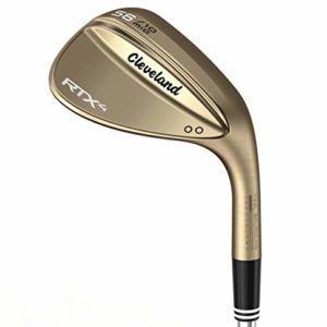 Cleveland Golf Men's RTX 4 Wedge Raw Finish 46 Mid Raw Finish Wedge, Right Hand