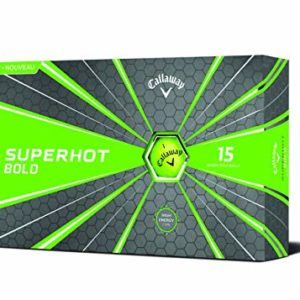 Callaway Superhot 2018 Golf Ball (15 Ball Pack, Green)