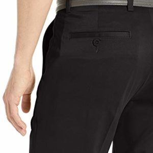 Amazon Essentials Men's Slim-Fit Stretch Golf Pant, Black, 34W x 32L