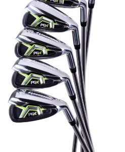 Pinemeadow Men's PGX Golf Set-Driver, 3 Wood, Hybrid, 5-PW Irons (Right Handed, Regular Flex)