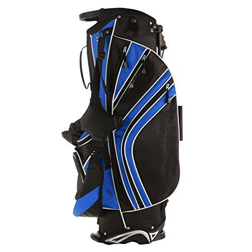 Tangkula Golf Stand Bag w/6 Way Divider Carry Organizer Pockets Storage (Blue)