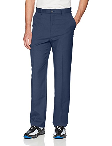 PGA TOUR Men's Flat Front Golf Pant with Expandable Waistband, Black Iris, 34W x 32L