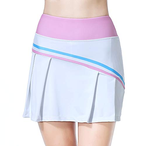 beroy Summer Womens Sports Skirts Athletic Skorts Active Casual Tennis Golf Workout with Pockets Pink S