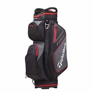 TaylorMade 2019 Golf Select Cart Bag, Black/Red