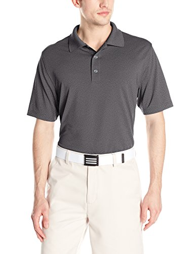 Amazon Essentials Men's Regular-Fit Quick-Dry Golf Polo Shirt, Medium Heather Grey, Large
