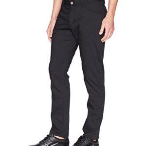 NIKE Men's Flex Slim 5-Pocket Golf Pants, Black/Wolf Grey, Size 34/32