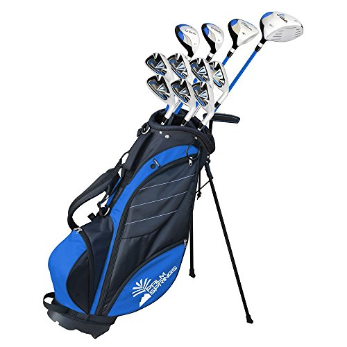 Palm Springs Golf VISA Mens +1″ TALL GRAPHITE & STEEL Club Set & Stand Bag