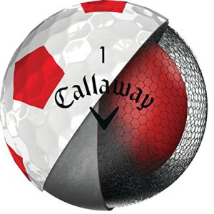 Callaway Golf Chrome Soft Truvis Golf Balls, (One Dozen), Truvis Red (Prior Generation)