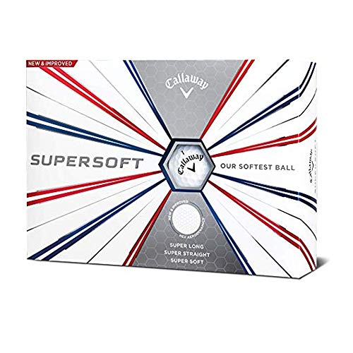 Callaway Golf Supersoft Golf Balls, (One Dozen), White