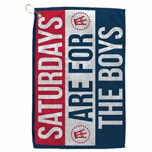 Barstool Sports Saturdays are for The Boys Golf Towel, Clip-On Accessory for Golf Bag, Perfect for Tailgating College Fraternities Weekend Sports