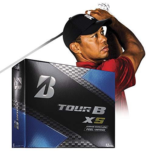 Bridgestone Golf Tour B XS Golf Balls, White  (One Dozen) – 760778083017