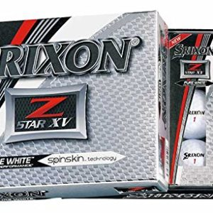 Srixon Z-Star XV 2017 Golf Balls, White (One Dozen)