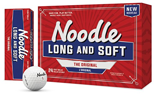 TaylorMade 2018 Noodle Long & Soft Golf Ball, White (Pack of 24), One Size