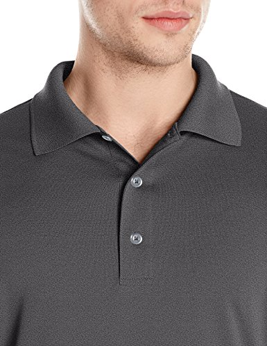 Amazon Essentials Men's Regular-Fit Quick-Dry Golf Polo Shirt, Medium Heather Grey, Large