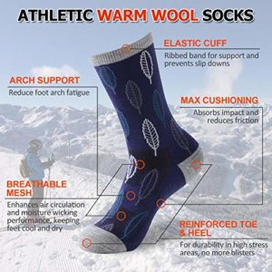 Women's Golf Socks Extra-fine Merino Wool Socks Moisture, Blue, Size One Size
