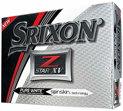 Srixon Z-Star XV 2017 Golf Balls, White (One Dozen)