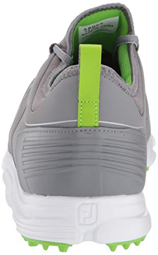 FootJoy Men's Superlites XP-Previous Season Style Golf Shoes, Grey/Lime, 10.5 M US