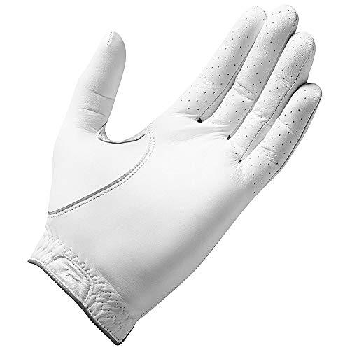 TaylorMade Tour Preferred Flex Glove (White, Left Hand, Large), White(Large, Worn on Left Hand)