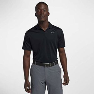 Nike Men's Dry Victory Polo Solid Left Chest, Black/Cool Grey, Medium